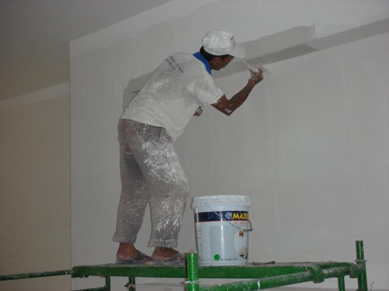 Quy trình Thi công sơn nhà đẹp Trọn Gói
